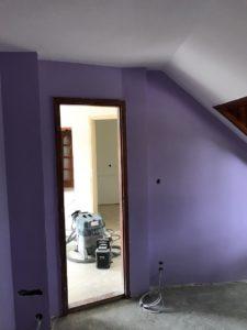Lakásfelújítás, Szobafestés, Glettelés és festés.